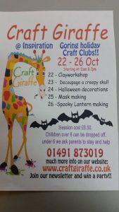 Half Term Craft Giraffe @ Inspiration | Goring | England | United Kingdom