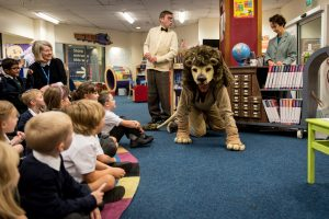 The Library Lion @ Woodcote Library