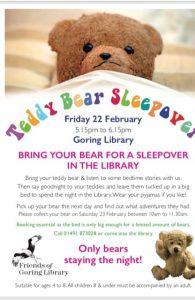 Teddy Bear Sleepover @ Goring Library | Goring | England | United Kingdom