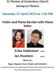 Violin and Piano recital @ St Thomas Church   Goring   England   United Kingdom