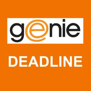 GENIE NEWS - COPY DEADLINE