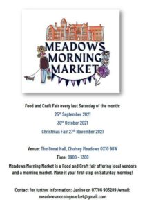 Meadows Food and craft fair @ The Great Hall   Cholsey   England   United Kingdom